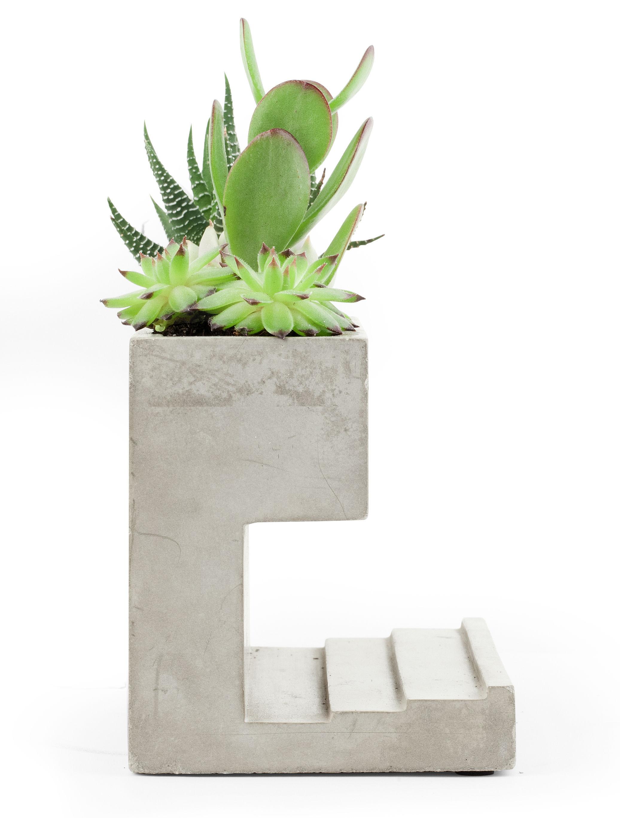 pot de fleurs planter and pen holder large pot de fleurs l 16 5 x h 9 cm large b ton. Black Bedroom Furniture Sets. Home Design Ideas