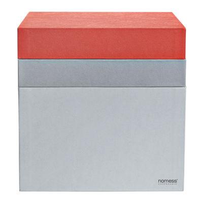 Foto Scatola Tray Box - / Cubo di Nomess - Grigio,Corallo - Carta