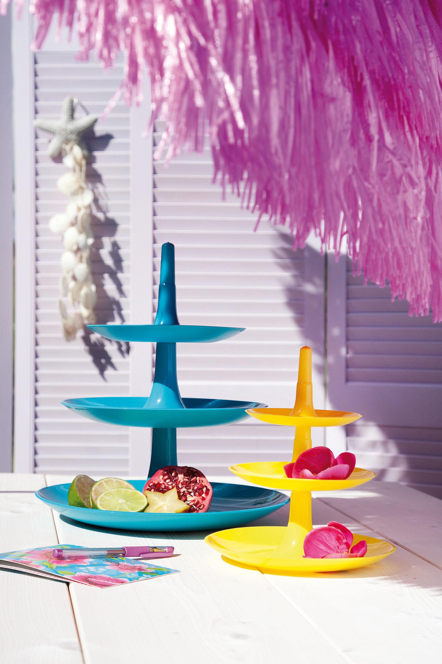 porte fruits babell 31 4 x h 34 cm bleu oc an opaque koziol. Black Bedroom Furniture Sets. Home Design Ideas