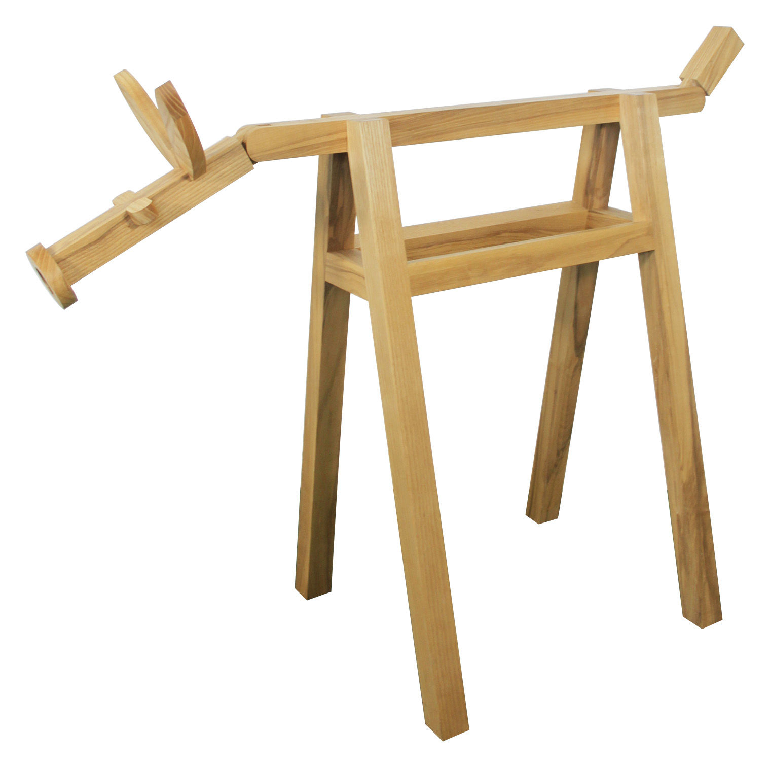 The Farm Pair Of Trestles Set Of 2 Natural Wood By Thelermont Hupton