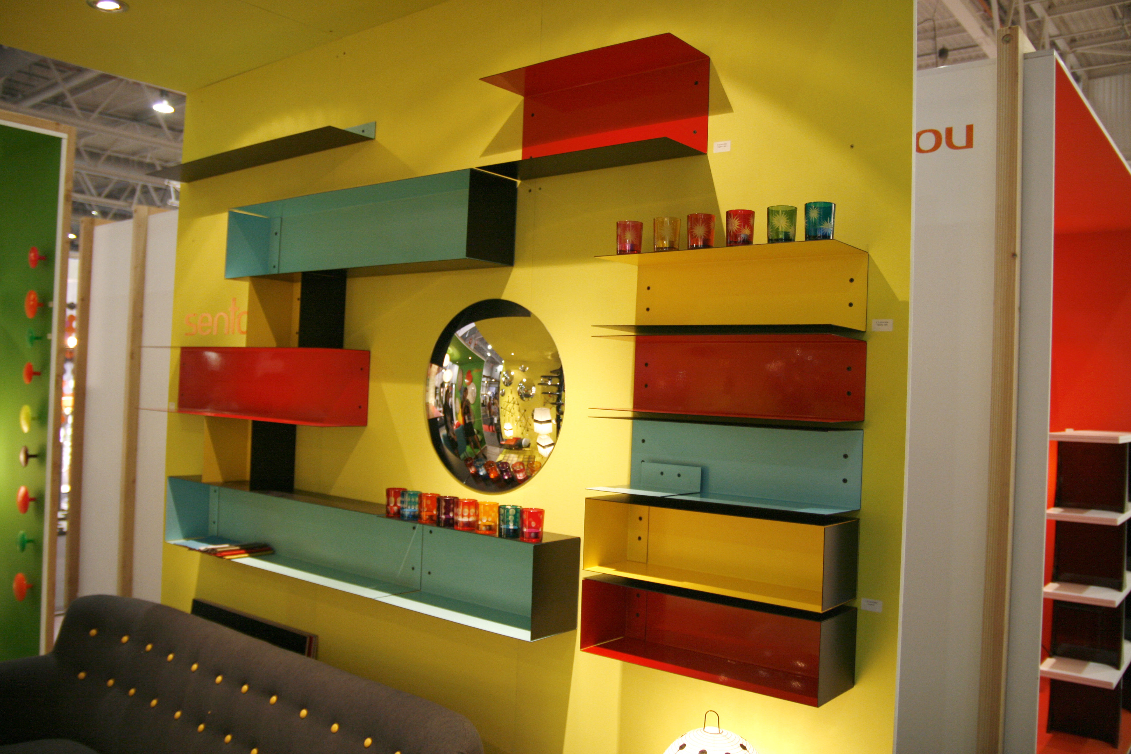 etag re utu l 50 cm turquoise ext rieur noir sentou edition. Black Bedroom Furniture Sets. Home Design Ideas