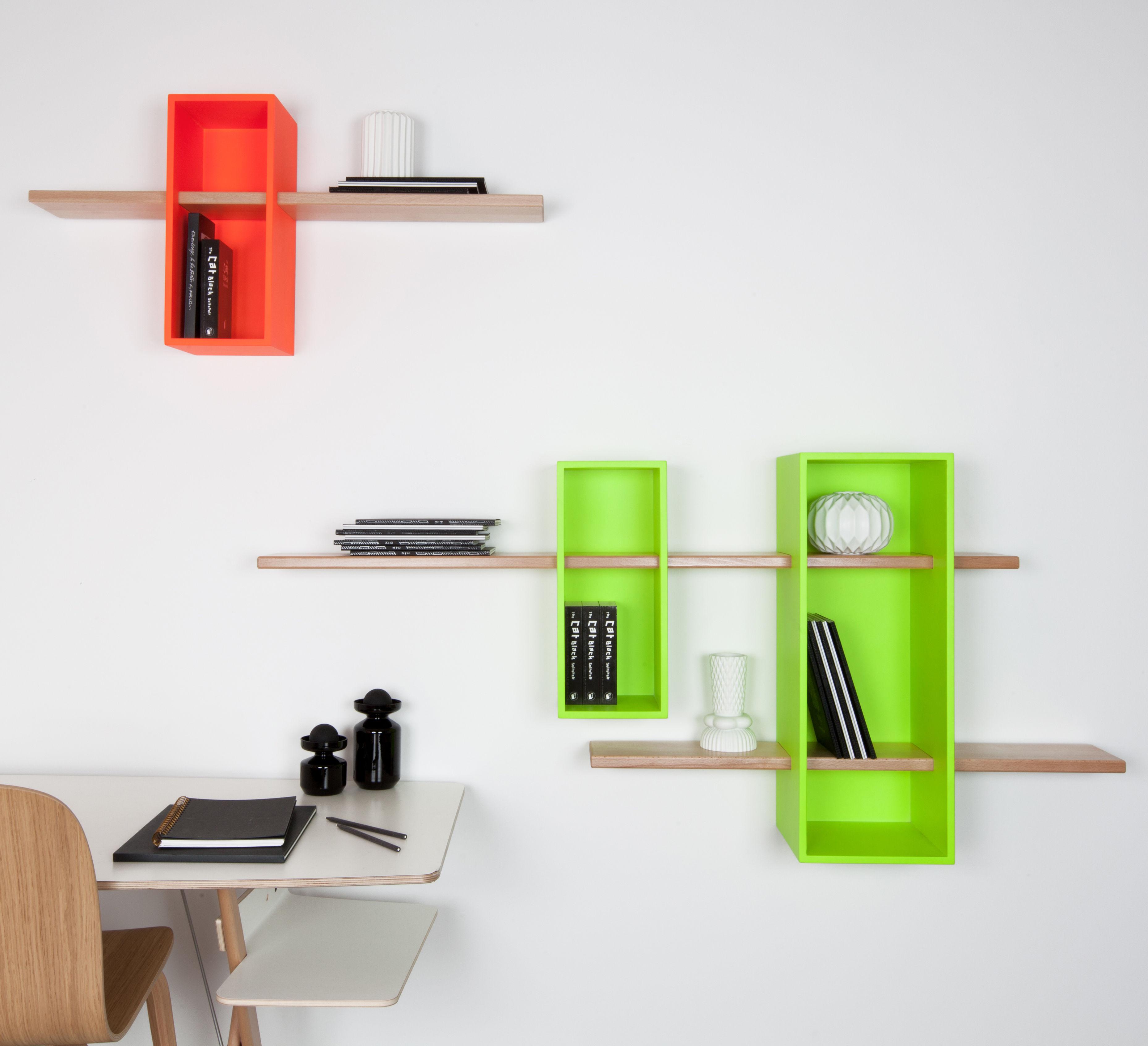 Max shelf simple exclusive colour orange luminous by - Exclusive decoration of book shelf ...