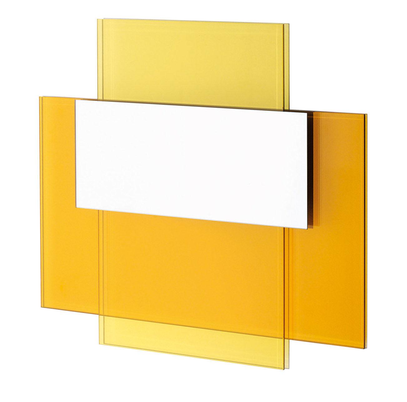 Miroir colour on colour l 70 x h 60 cm jaune orange for Miroir jaune