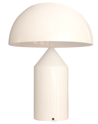 Foto Lampada da tavolo Atollo di O luce - Bianco - Metallo
