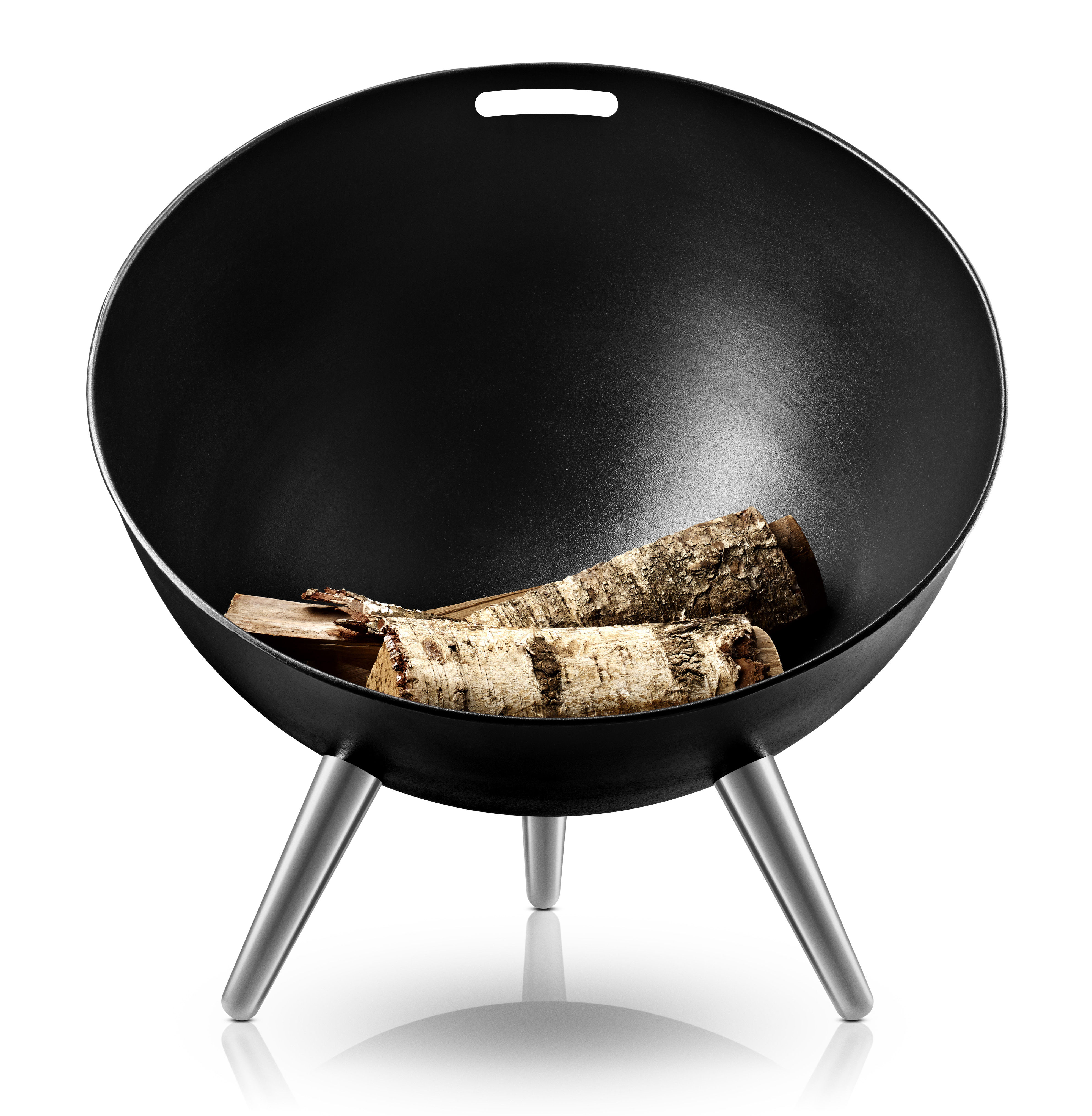 brasero fire globe 64 x h 75 cm noir eva solo. Black Bedroom Furniture Sets. Home Design Ideas