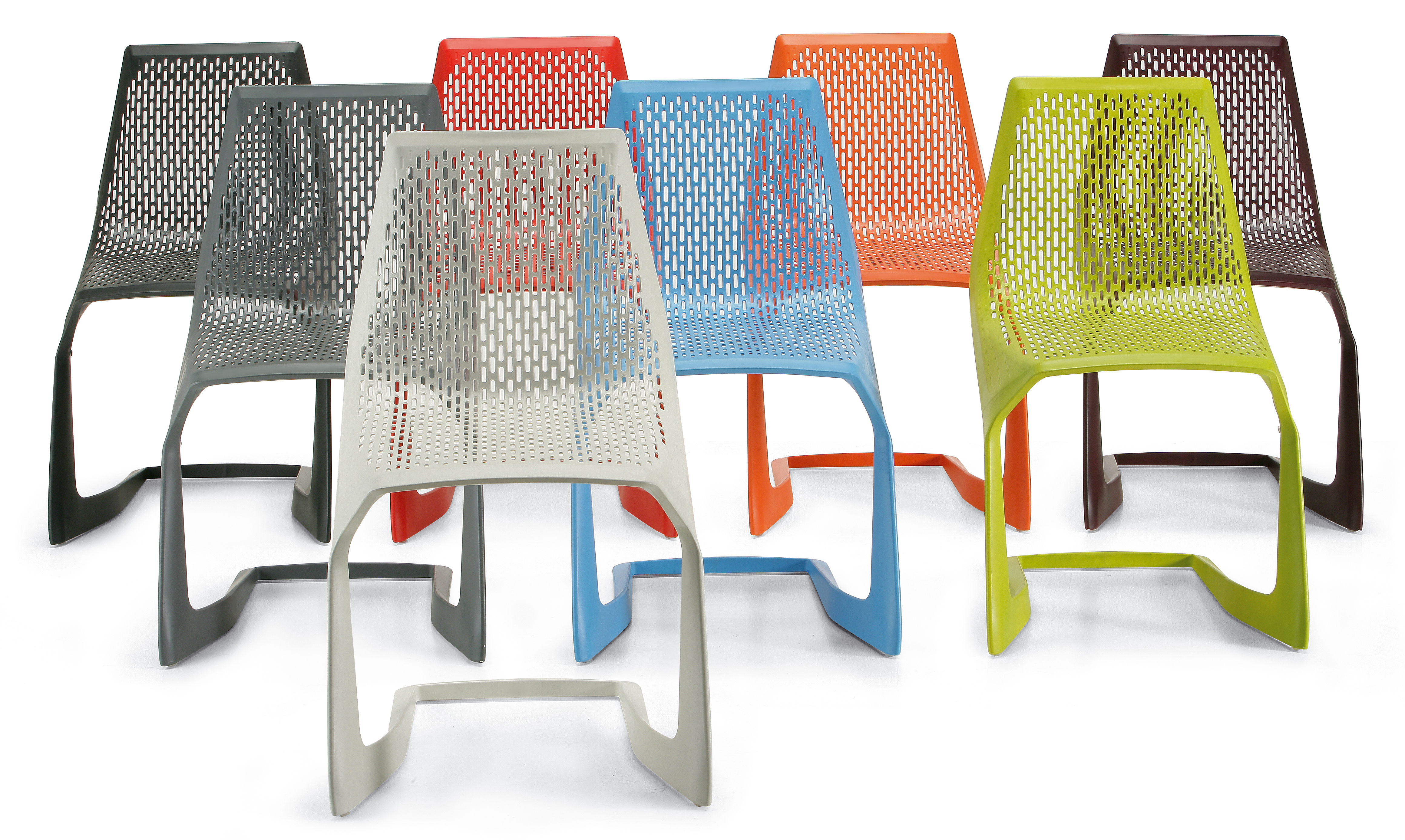 Myto Stackable Chair Plastic Black By Plank