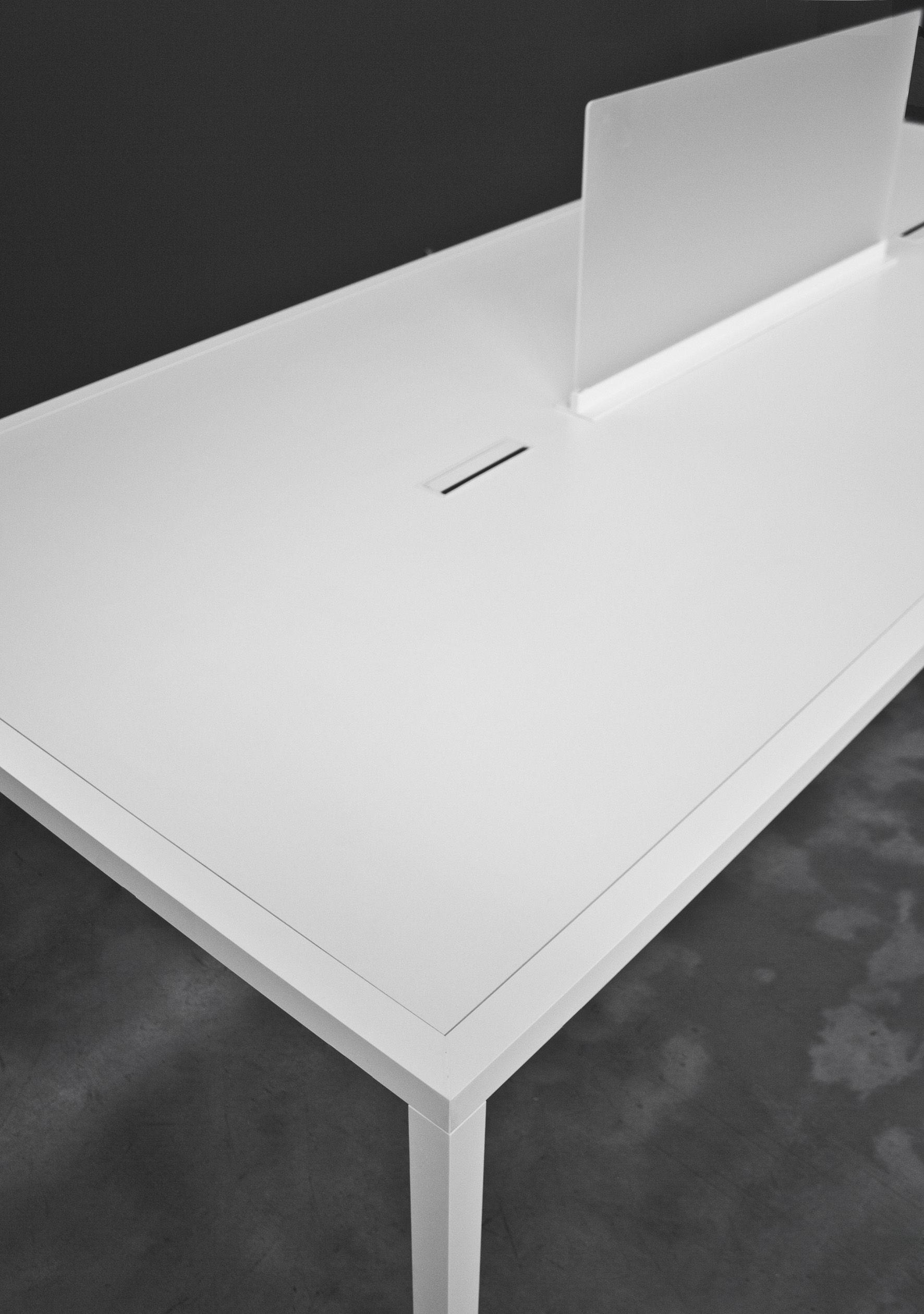 Table tavolo office bureau 180 x 90 cm blanc demi for Bureau 90 cm de large