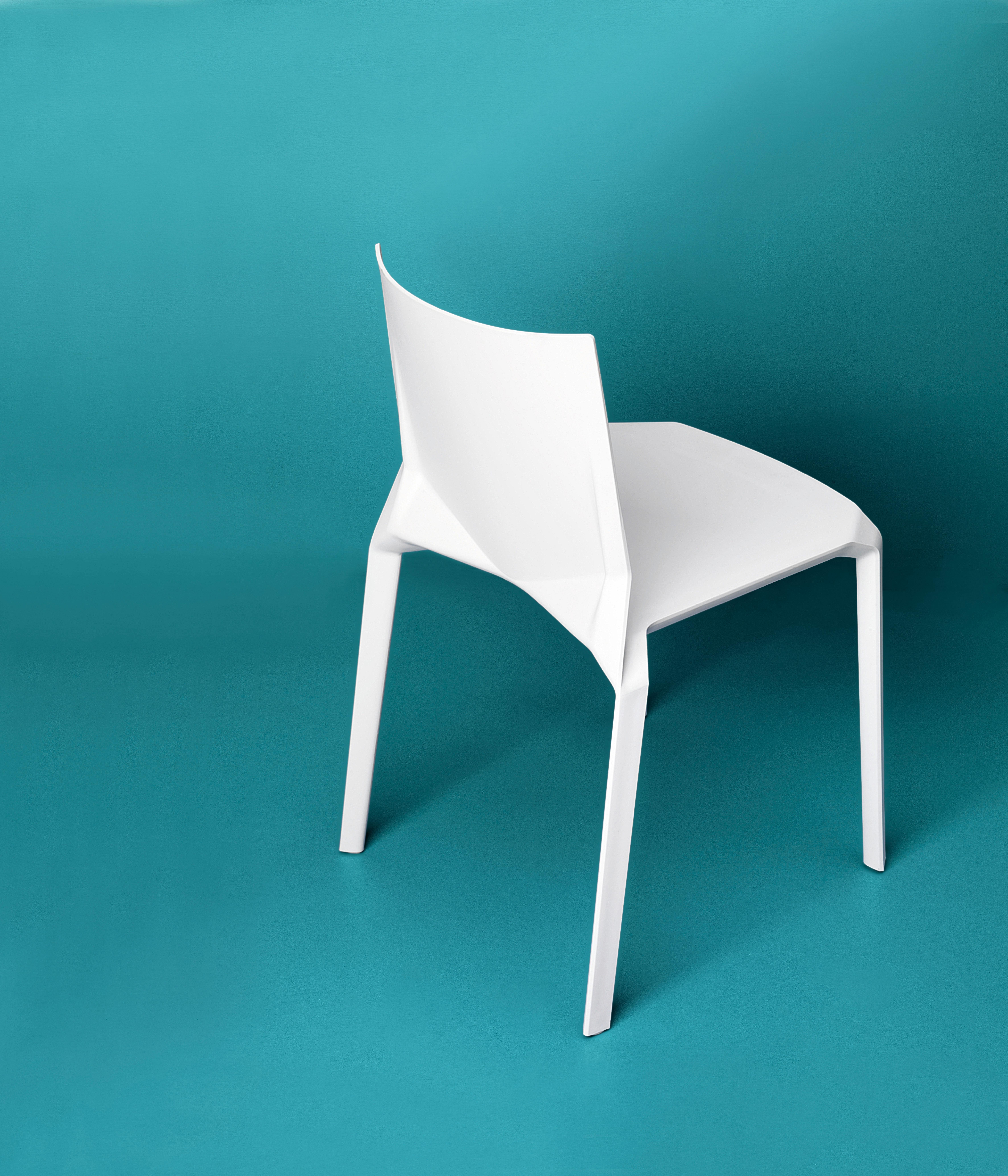 chaise empilable plana plastique blanc kristalia. Black Bedroom Furniture Sets. Home Design Ideas