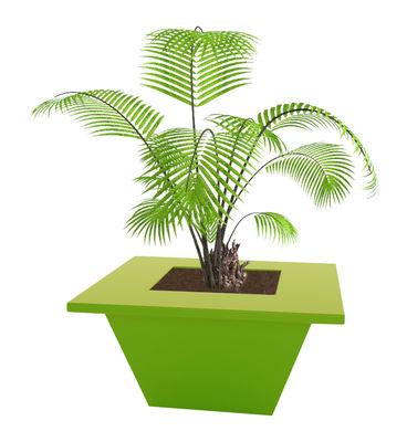 Foto Vaso per fiori Bench 150 x 150 cm - Slide - Verde - Materiale plastico