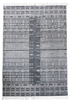 tapis julia 160 x 230 cm gris blanc house doctor. Black Bedroom Furniture Sets. Home Design Ideas