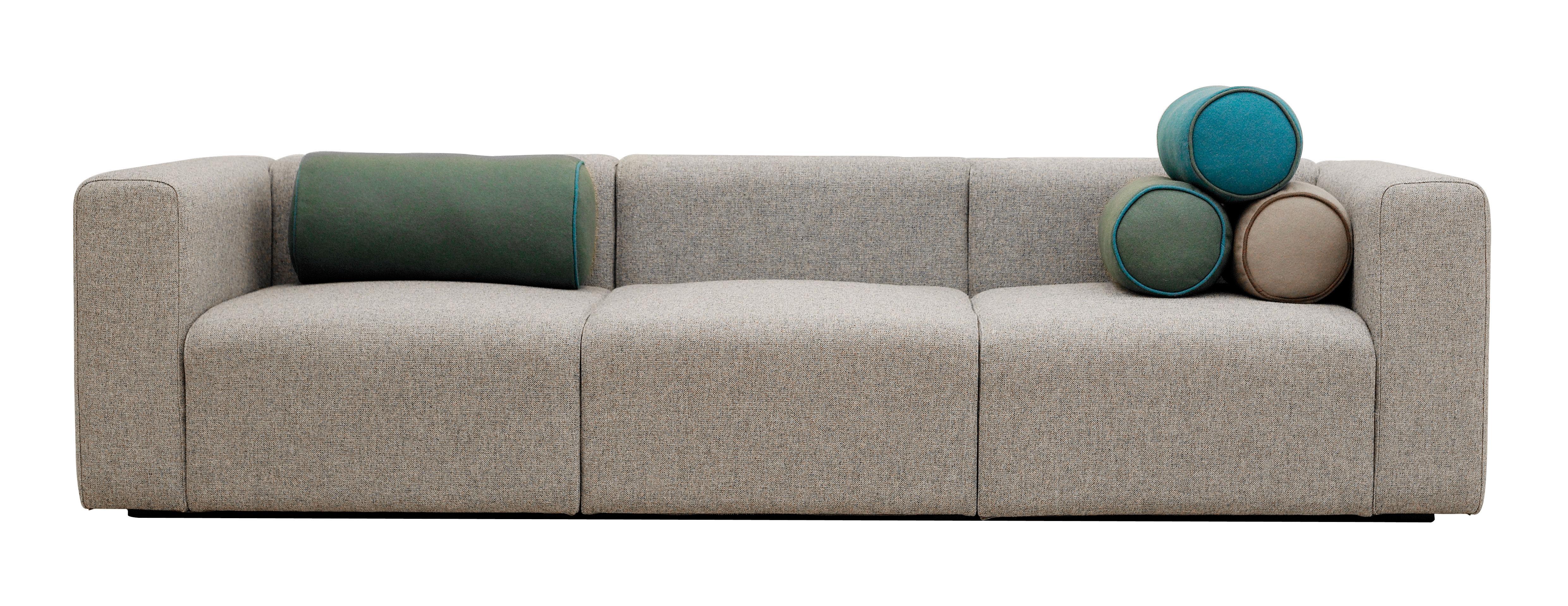 canap droit mags 3 places l 266 cm tissu steelcuttrio beige hay. Black Bedroom Furniture Sets. Home Design Ideas