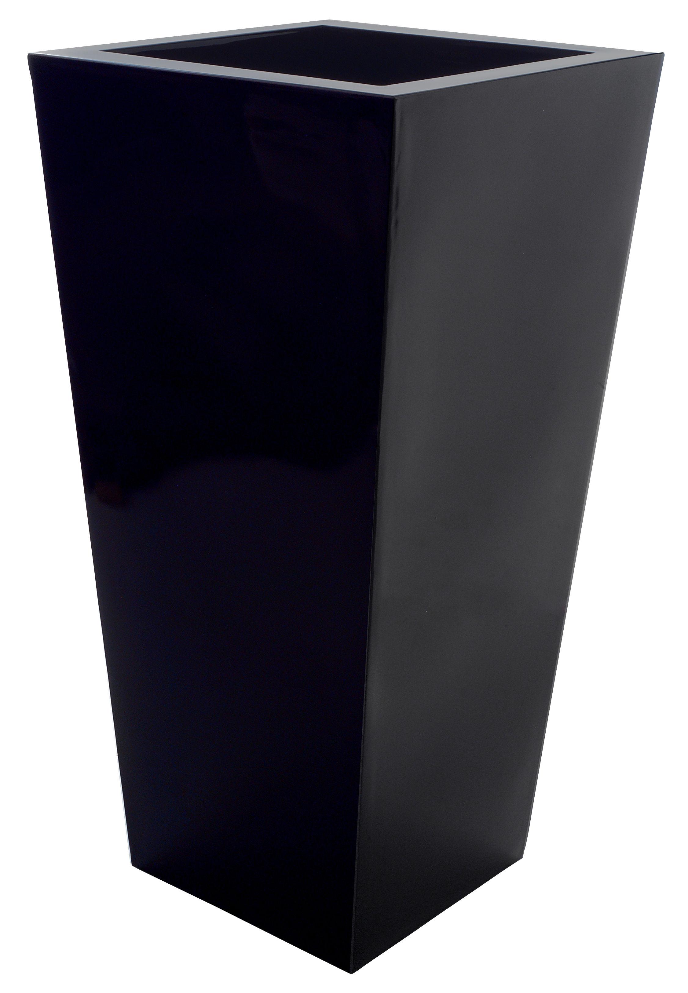 Scopri vaso per fiori kabin maxi nero di serralunga made for Vasi decorativi per esterno