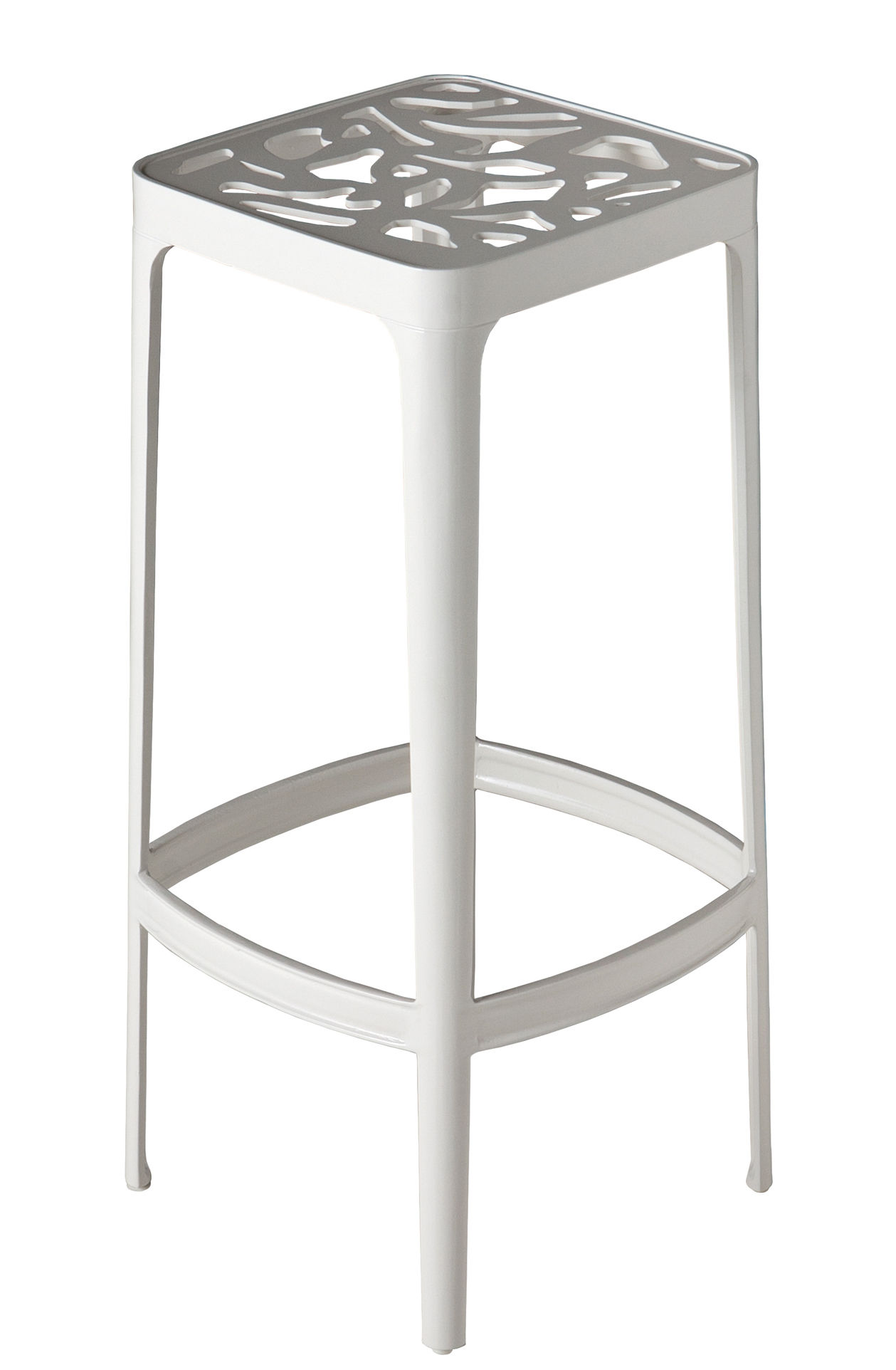 Petite madeleine bar stool h 78 cm metal white by driade - Madeleine bar stool ...