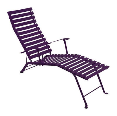 Foto Chaise longue Bistro di Fermob - Melanzana - Metallo