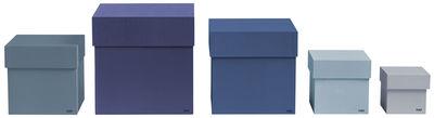 Foto Scatola Box Box - / Set 5 scatole di Hay - Blu - Carta