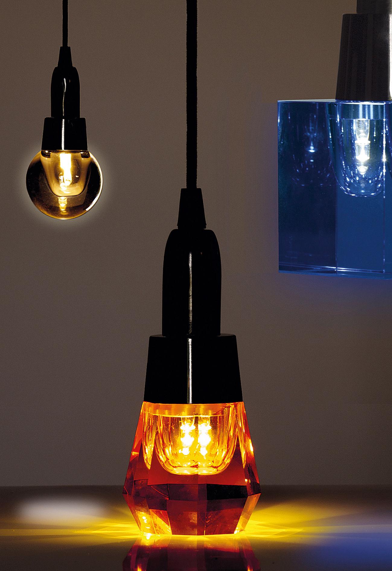 c ble lectrique pour ampoule crystaled avec interrupteur et prise c ble tissu noir seletti. Black Bedroom Furniture Sets. Home Design Ideas