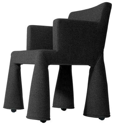 Moooi V.I.P. Chair Desk chair. Charcoal grey
