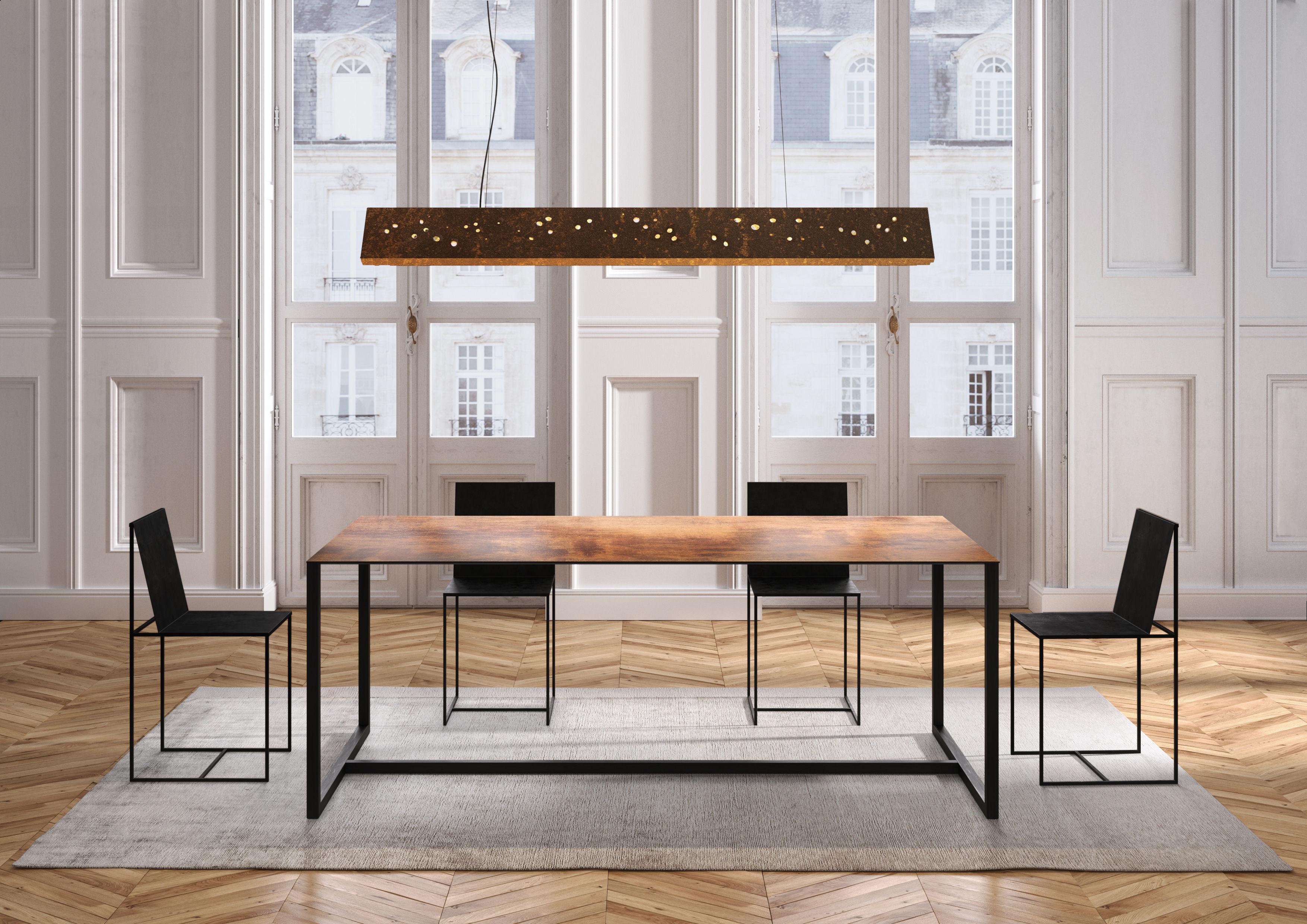 table big brother 200 x 90 cm plateau noir structure. Black Bedroom Furniture Sets. Home Design Ideas
