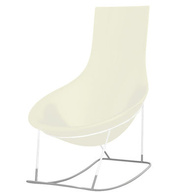 Foto Sedia a dondolo Tom Yam - Qui est Paul ? - Bianco - Materiale plastico Rocking chair