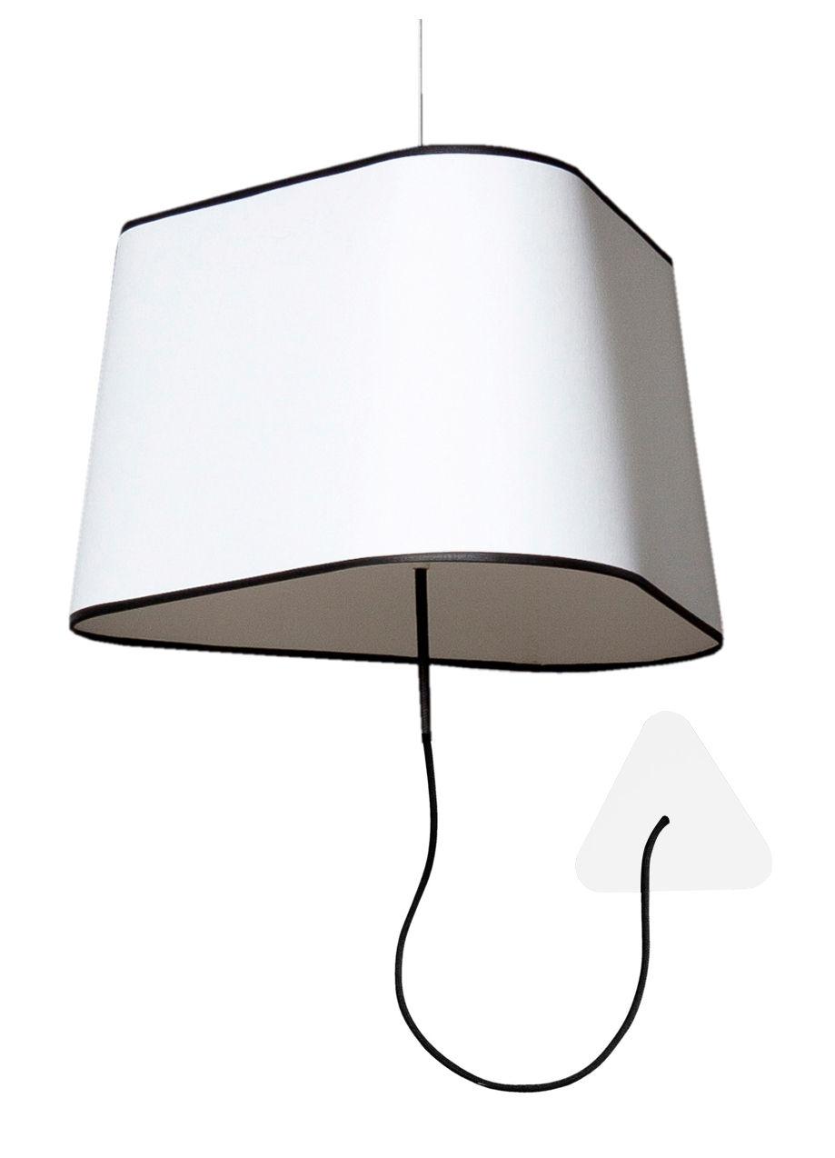 applique grand nuage l 43 cm fixation au plafond tissu blanc avec bordure noire designheure. Black Bedroom Furniture Sets. Home Design Ideas