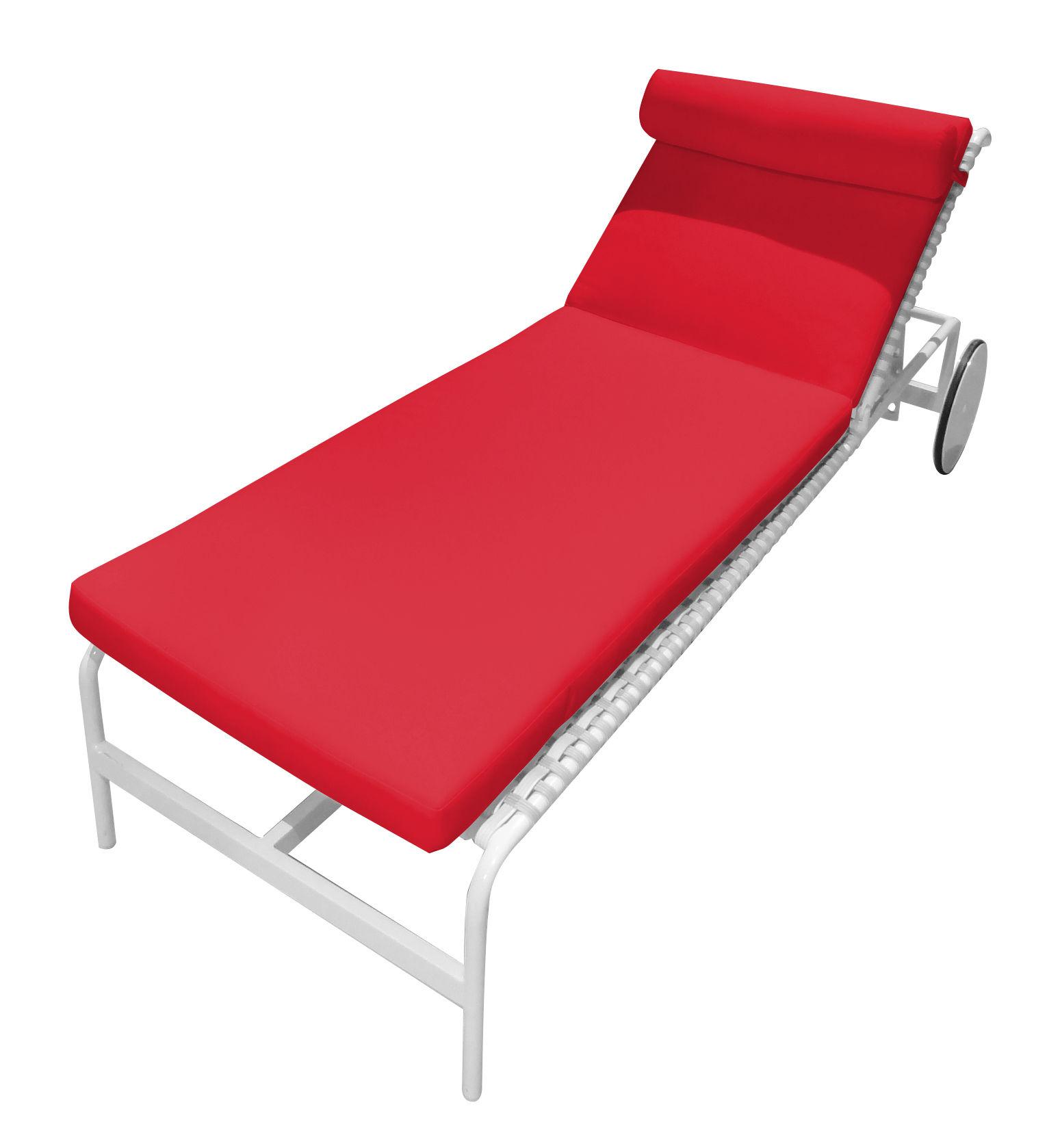 matelas pour bain de soleil rimini matelas rouge driade. Black Bedroom Furniture Sets. Home Design Ideas