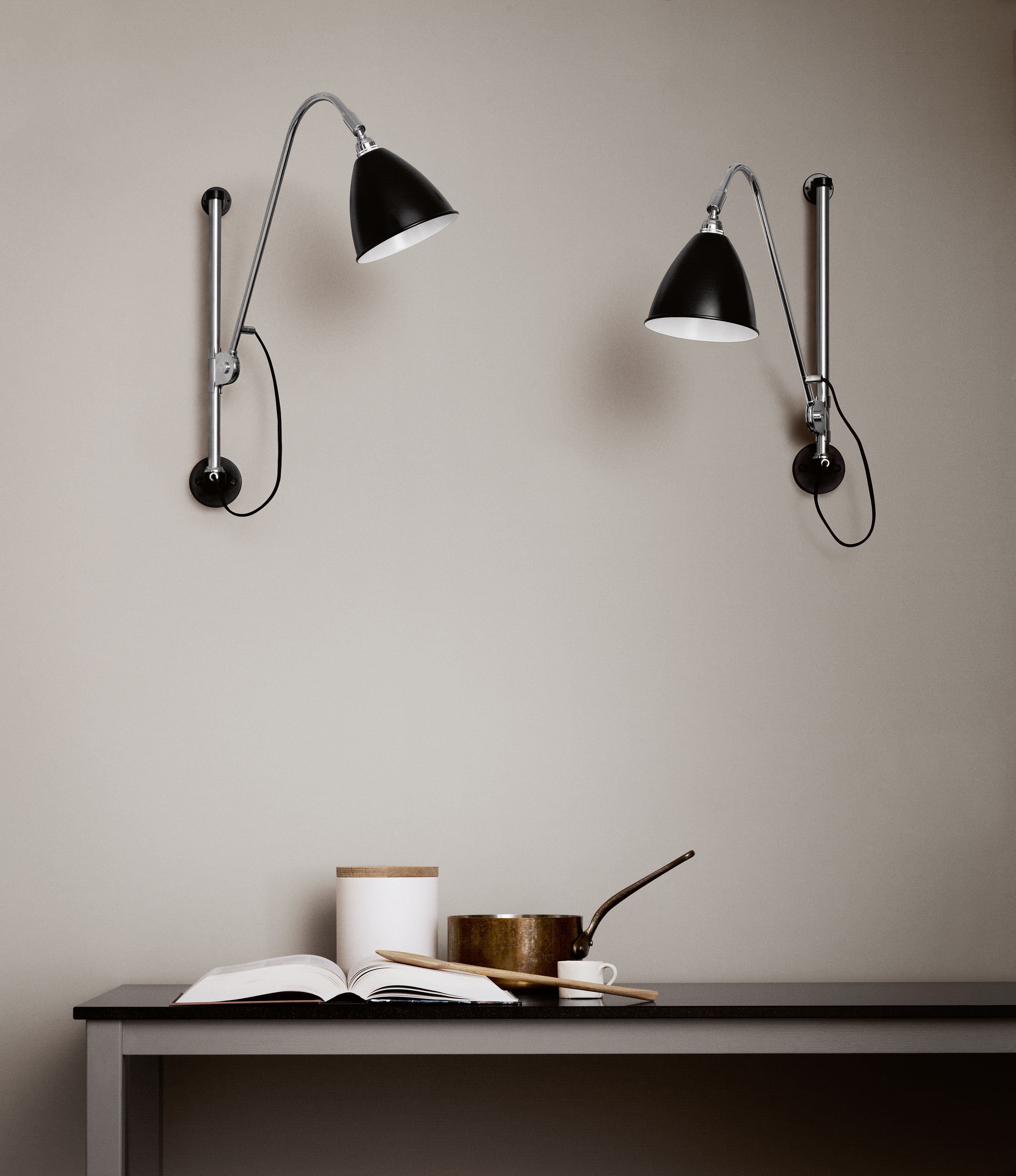 bestlite bl5 wall light reissue 1930 black by gubi. Black Bedroom Furniture Sets. Home Design Ideas