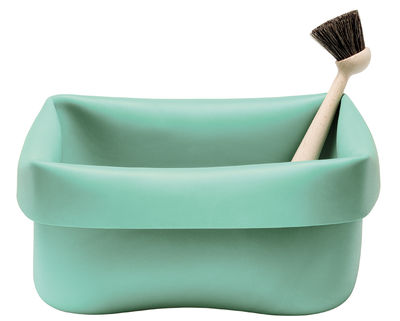 Normann Copenhagen Washing-up Bowl Set / With brush Mint