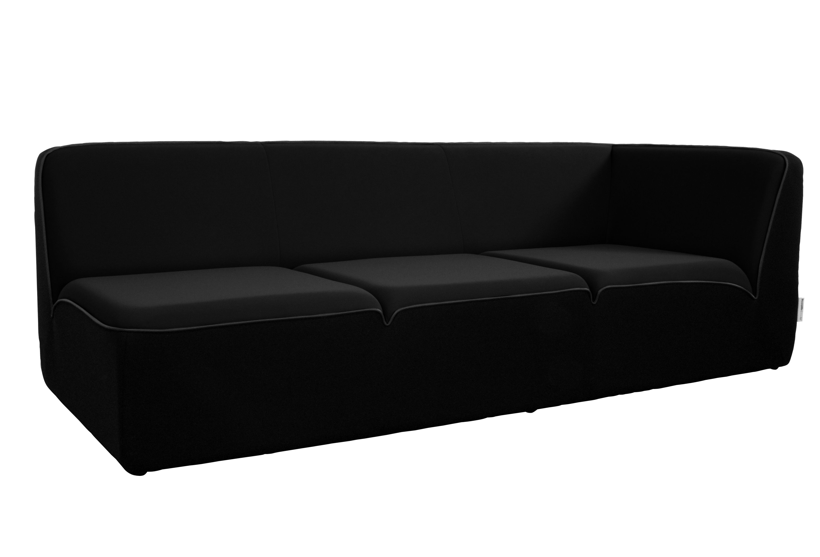canap droit e motion by ora ito accoudoir droit l 212 cm noir passepoil noir mat dunlopillo. Black Bedroom Furniture Sets. Home Design Ideas