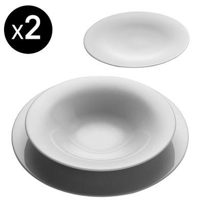 Scopri servizio di piatti ku set da 6 piatti 2 piatti piani 2 piatti fondi 2 piattini da - Servizio piatti design ...