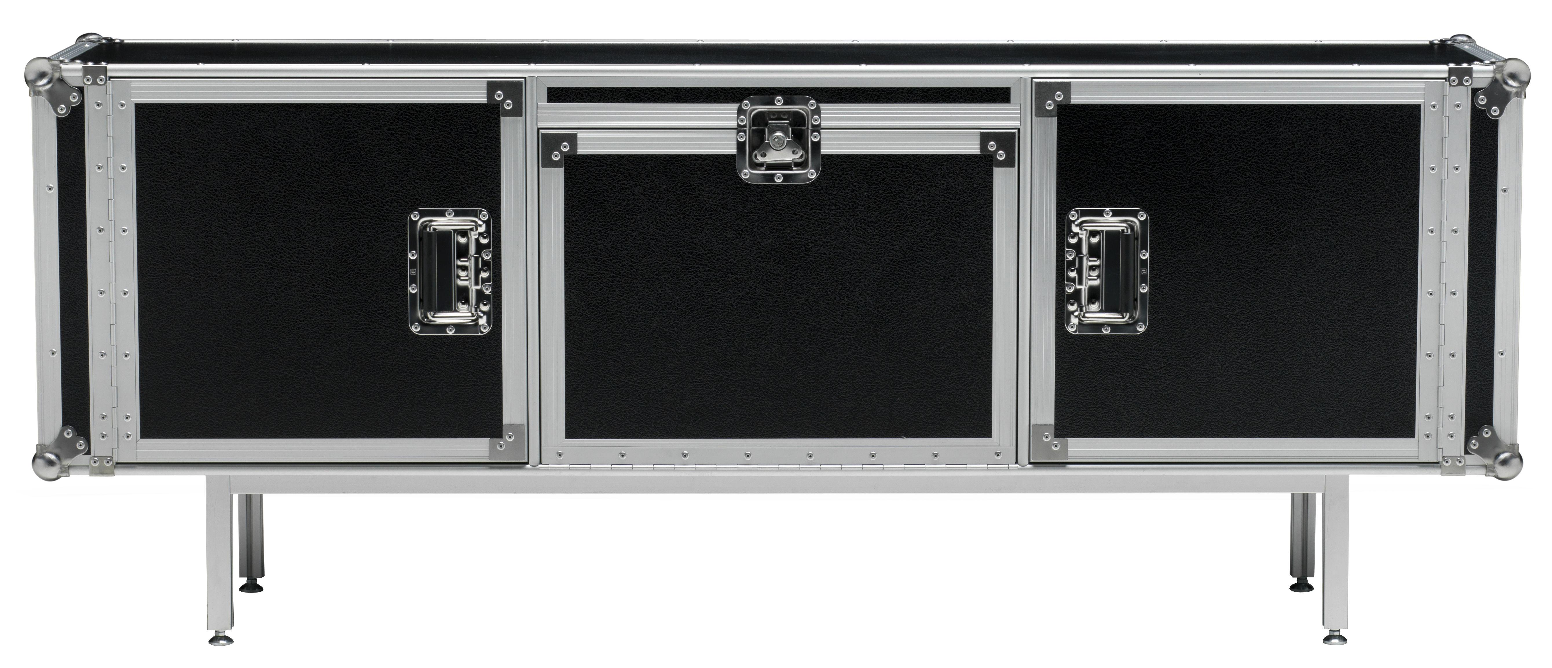 Buffet total flightcase l 180 cm noir diesel with moroso - Meuble tv fly serie ...