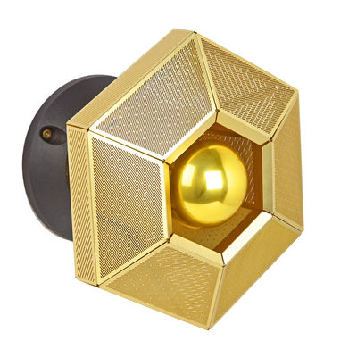 Foto Applique Cell - / Ø 23 cm di Tom Dixon - Ottone - Metallo