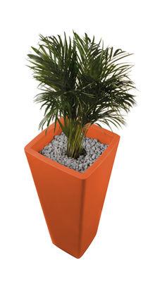 Foto Vaso per fiori All so quiet - A 110 cm di Qui est Paul ? - Arancione - Materiale plastico