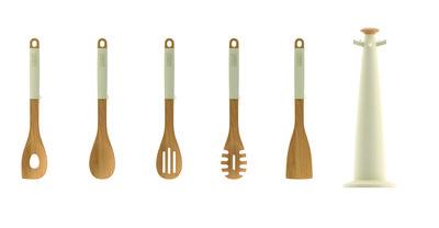 Ustensile de cuisine elevate wood set 5 pi ces sur - Ustensile de cuisine joseph joseph design ...