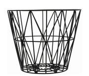 Cesto Wire Small - Ø 40 x H 35 cm di Ferm Living - Nero - Metallo
