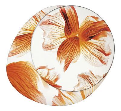 Image of Applique Wagashi Media / Plafonnier - Fleurs orange - Foscarini Orange / Fleurs