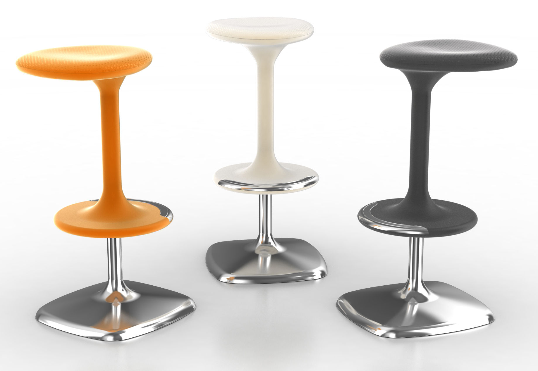 Kant Adjustable bar stool - Pivoting / H 65 à 76 cm Black by Casamania