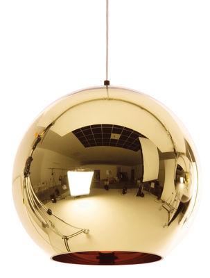 Foto Sospensione Copper Round - / Ø 45 cm di Tom Dixon - Bronzo - Materiale plastico