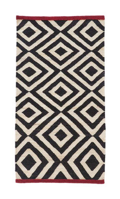 Foto Tappeto Melange - Pattern 1 / 80 x 140 cm - Nanimarquina - Bianco,Rosso,Nero - Tessuto