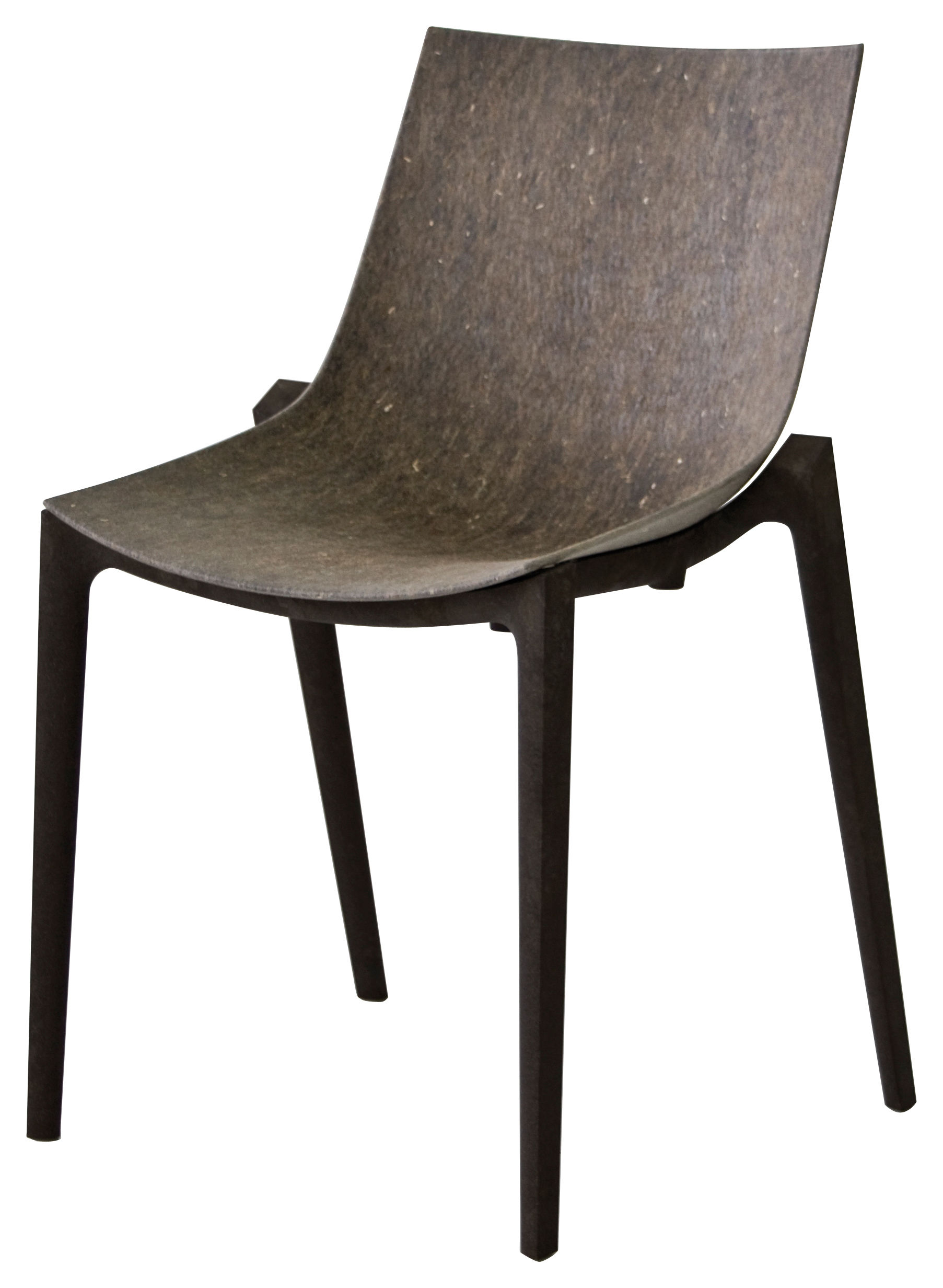 Zartan eco stackable chair hemp fiber grey seat dark for Chaise de philippe starck