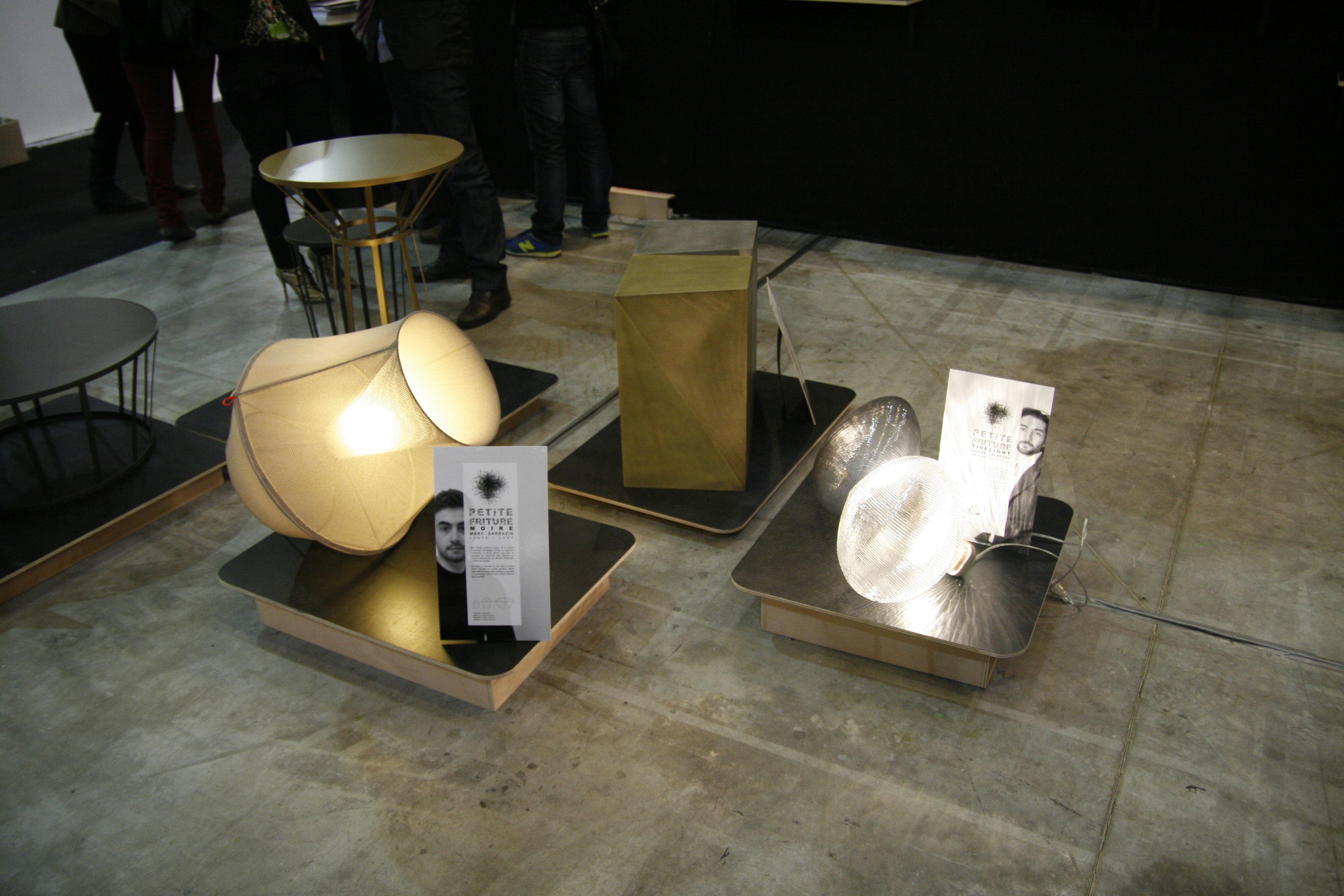 suspension moire lampe poser medium 50 cm 50 x h 50 cm noir petite friture. Black Bedroom Furniture Sets. Home Design Ideas