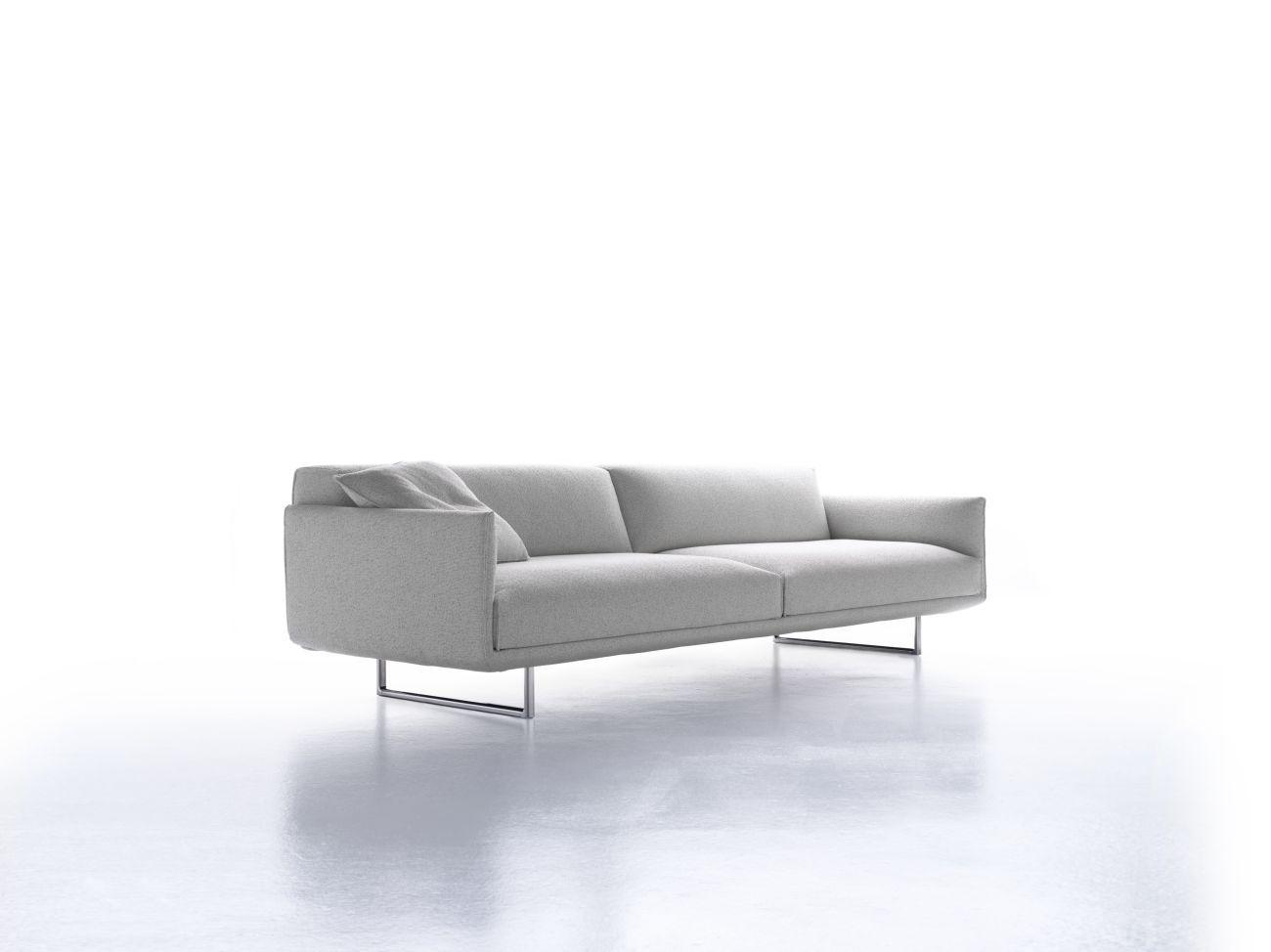 hara sofa 2 seats w 200 cm adjustable seat w 200 cm polished aluminium legs white tika. Black Bedroom Furniture Sets. Home Design Ideas
