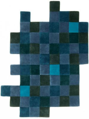 Foto Tappeto Do-Lo-Rez - 207 x 253 cm di Nanimarquina - Blu - Tessuto