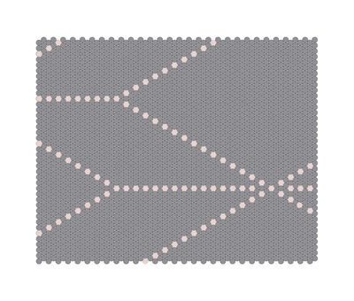 Foto Tappeto S&B Dot 100 x 80 cm - Hay - Grigio,Rosa pallido - Tessuto