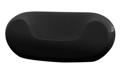 Foto Poltrona bassa Chubby - versione laccata di Slide - Laccato nero - Materiale plastico