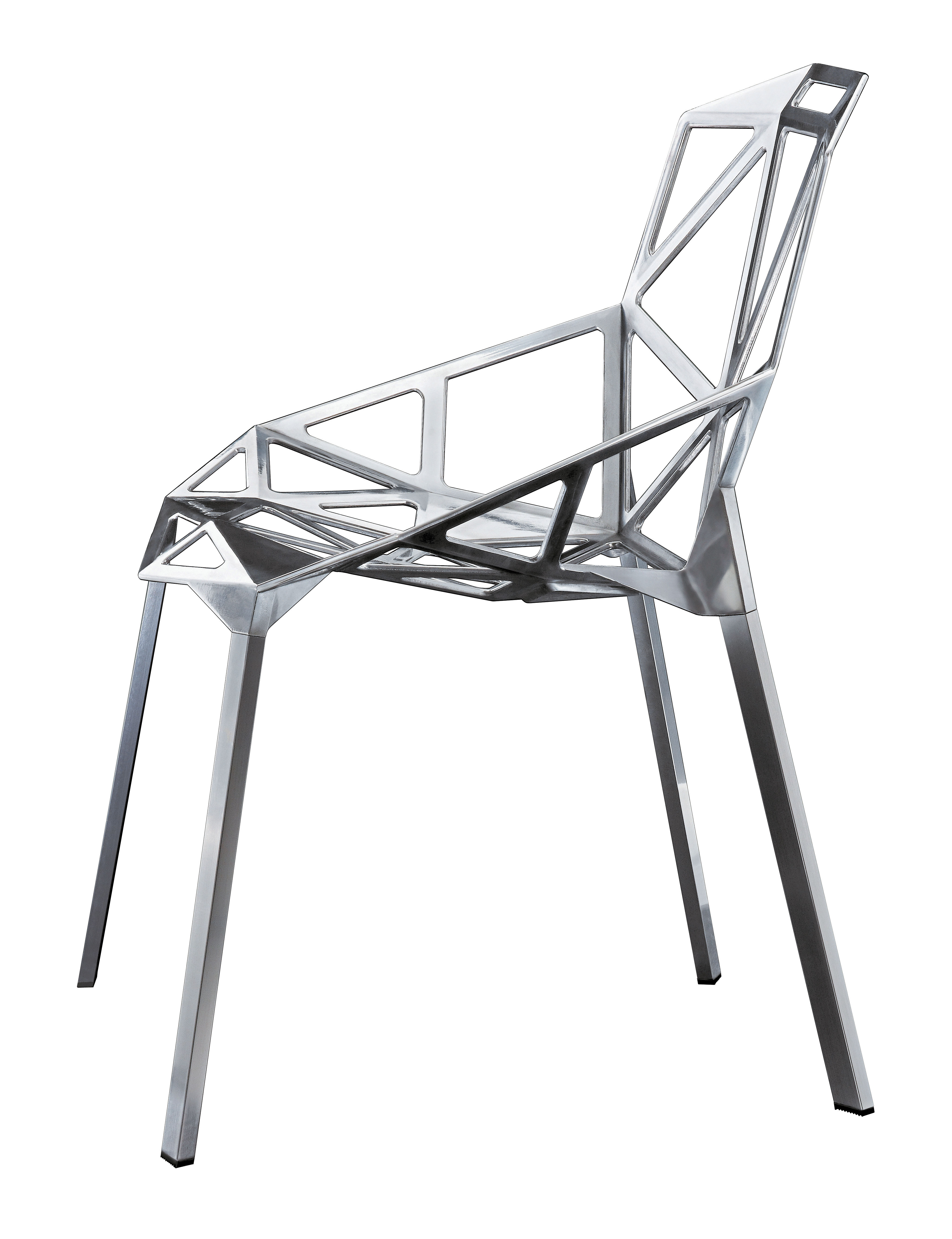chair one stackable chair polished aluminium polished aluminium by magis. Black Bedroom Furniture Sets. Home Design Ideas