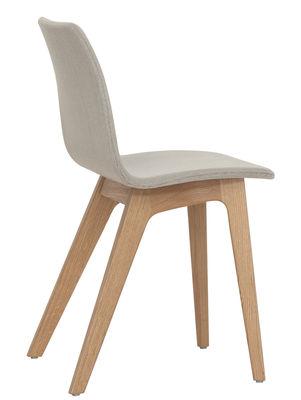 Chaise rembourr e morph tissu structure ch ne naturel for Chaise de salle a manger en chene massif recouvert de tissu