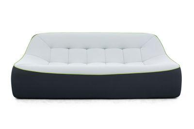 canap droit tchubby by ora ito xl l 200cm noir gris perle passepoil vert dunlopillo. Black Bedroom Furniture Sets. Home Design Ideas