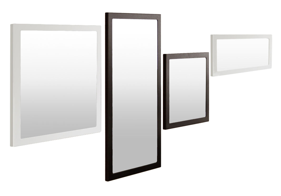Miroir little frame 60 x 60 cm phosphat noir zeus for Miroir en long