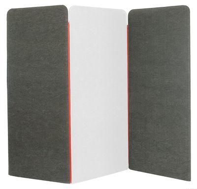 paravent buzziscreen acoustique 2 panneaux gris panneau central blanc buzzispace. Black Bedroom Furniture Sets. Home Design Ideas