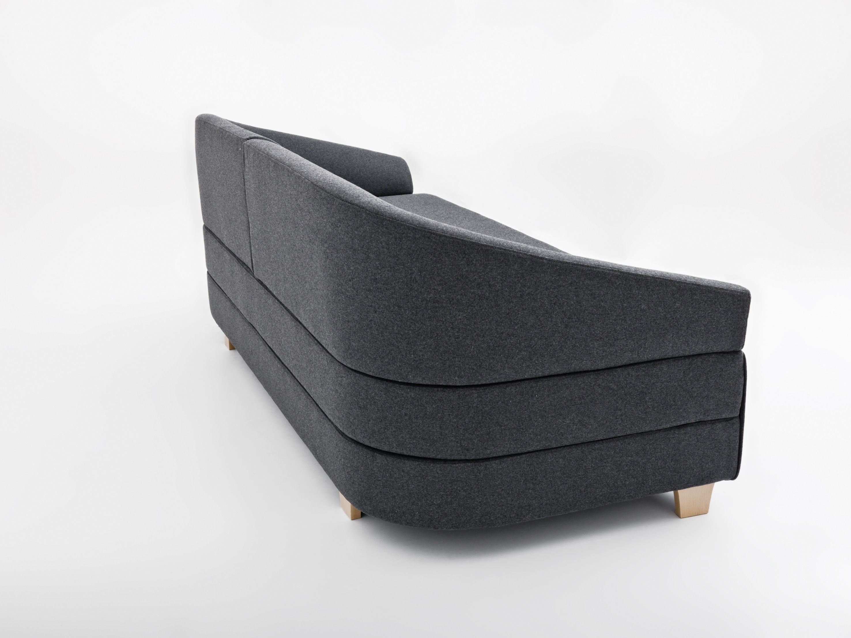 Lol sofa bed l 215 cm web exclusivity anthracite grey for Sofa 70 cm profundidad